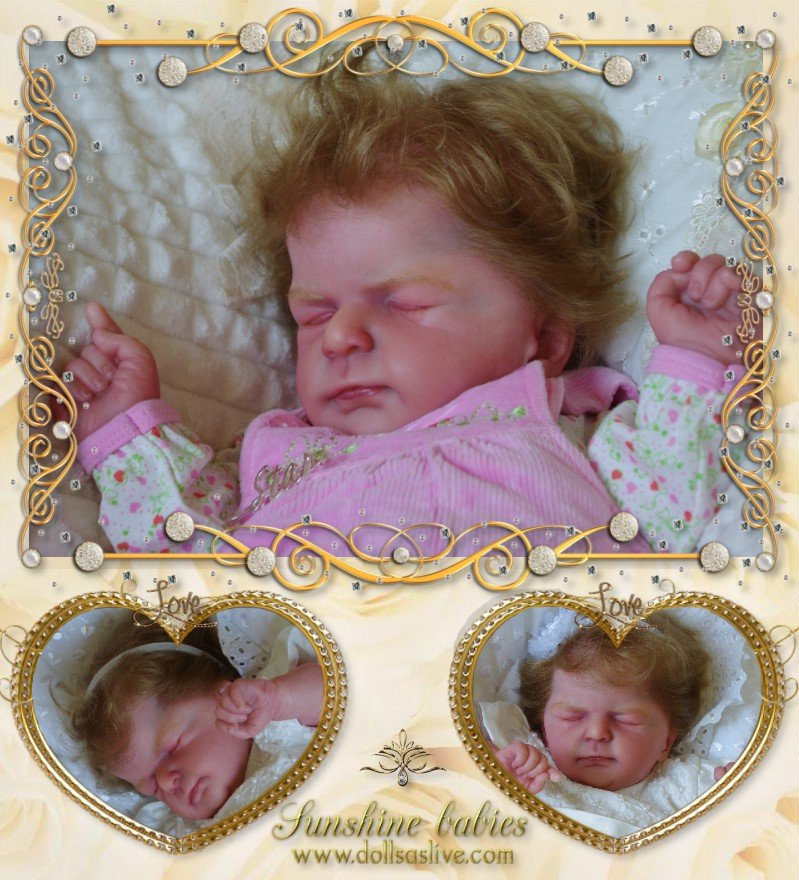 EVELINE: Ellis by Olga Auer: Dolls as Live Made with Love SUNSHINE BABIES Reborn dolls